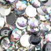 Acrylic Round Flat Back Rhinestones 20mm Crystal Aurora Borealis 200pcs/bag